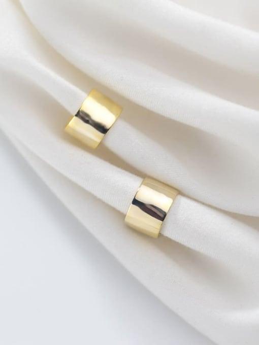Rosh 925 Sterling Silver Smooth Geometric Minimalist Stud Earring 0