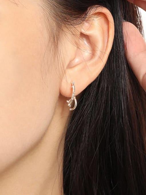 DAKA 925 Sterling Silver Irregular Minimalist Stud Earring 2