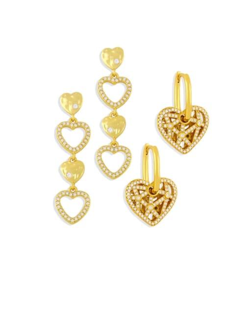 CC Brass Cubic Zirconia Tassel Minimalist Drop Earring