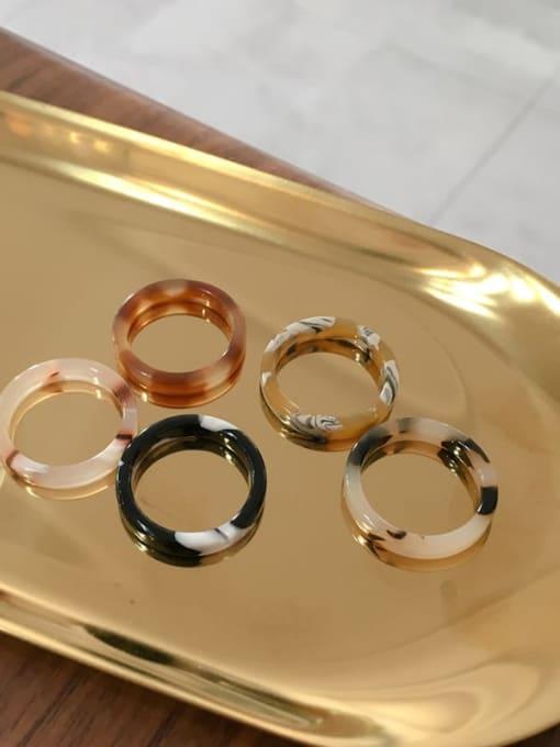 Chimera Cellulose Acetate Geometric Minimalist  men and women Melange ring 0