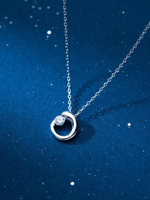 Rosh 925 Sterling Silver Rhinestone Geometric Minimalist Necklace 1