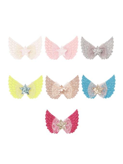 YOKI KIDS Alloy  Silk Cute Butterfly Multi Color Hair Barrette 1