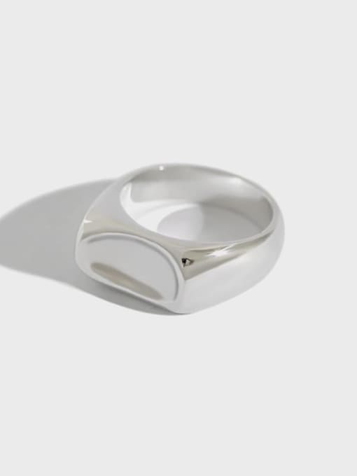 Dak Phoenix 925 Sterling Silver smooth Irregular Vintage Ring 0