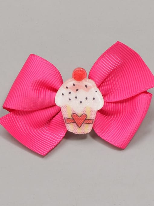 2 Mini love cake Alloy Yarn Cute Bowknot  Multi Color Hair Barrette