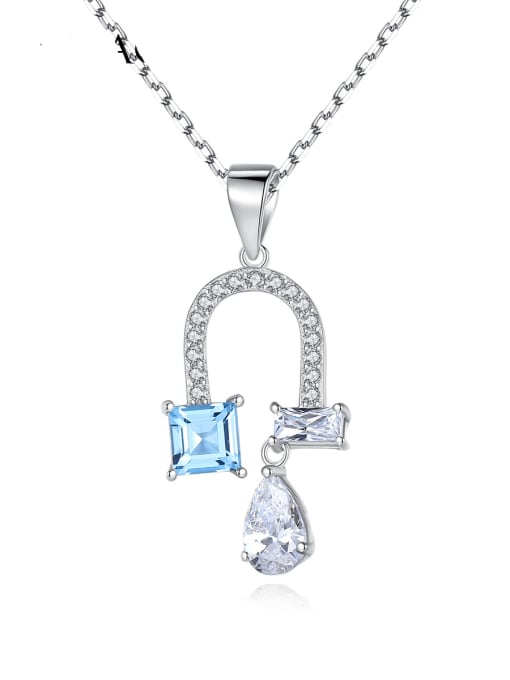 CCUI 925 Sterling Silver Cubic Zirconia Flower Dainty Necklace 0