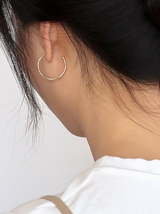 CHARME Brass Geometric Minimalist Hoop Earring 3