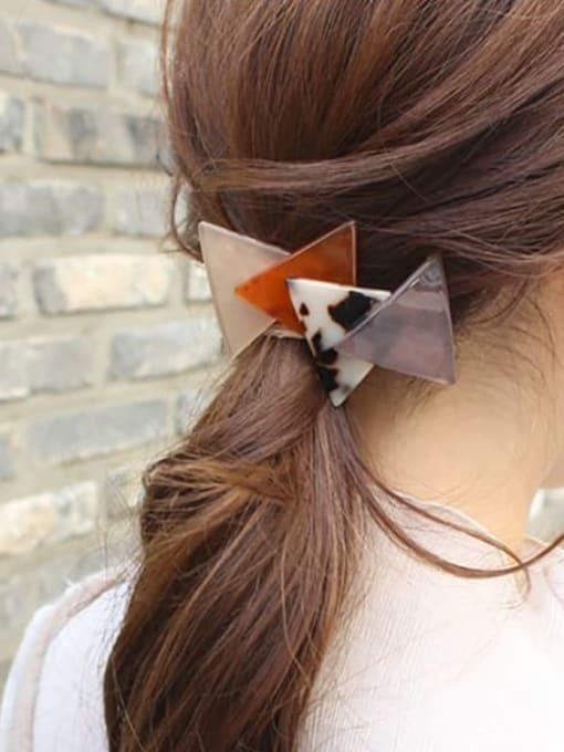 HUIYI Cellulose Acetate Minimalist Geometric Zinc Alloy Spring clip Hair Barrette 1