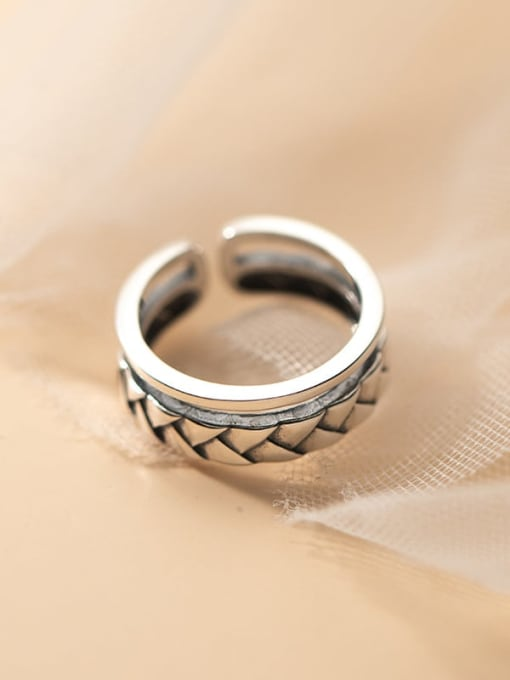 Rosh 925 Sterling Silver Geometric Vintage Stackable Ring 2