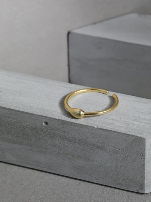 DAKA 925 Sterling Silver Heart Minimalist Band Ring 1