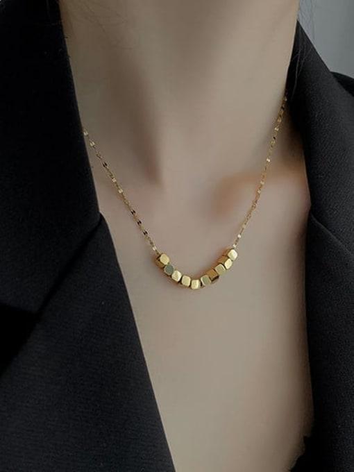 A TEEM Titanium Steel Square Minimalist Necklace 2