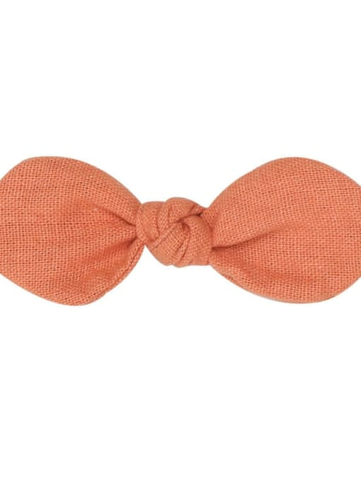 6 sandstone Brown hairpin Alloy Fabric Minimalist Bowknot  Multi Color Hair Barrette