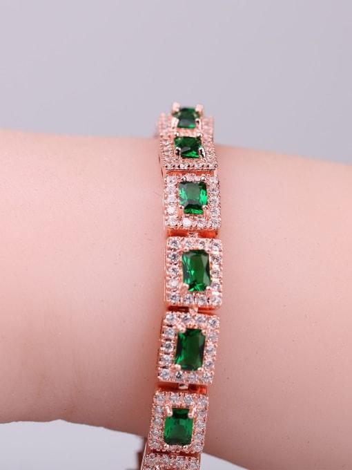 DUDU Brass Cubic Zirconia Geometric Dainty Bracelet 2