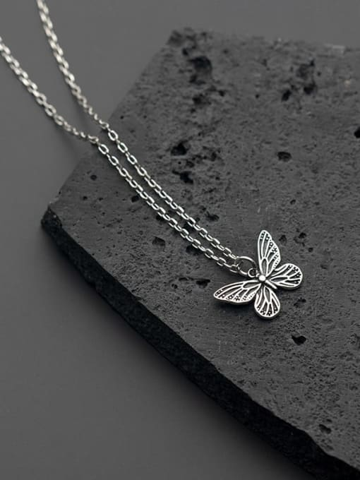 Rosh 925 Sterling Silver Butterfly Vintage Necklace 2