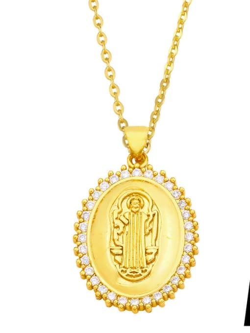 CC Brass Cubic Zirconia Irregular Vintage Necklace 0