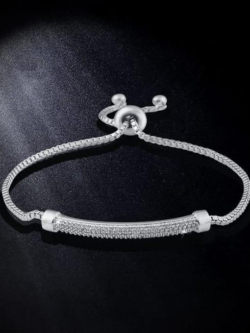 steel Alloy Cubic Zirconia Geometric Vintage Adjustable Bracelet