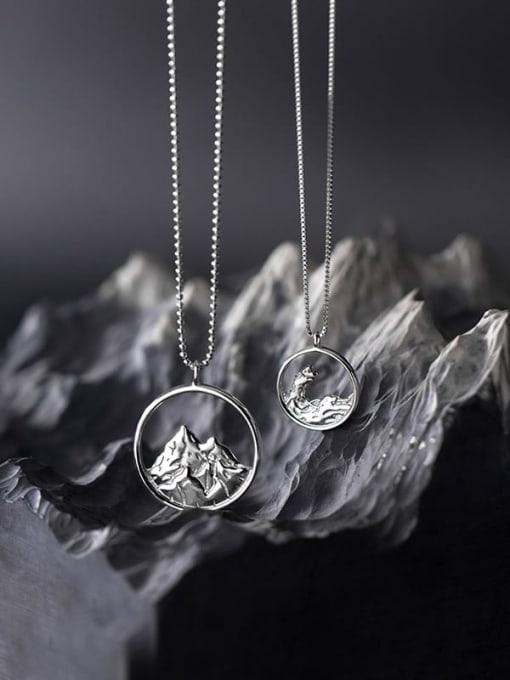 Rosh 925 Sterling Silver Cubic Zirconia Geometric Minimalist Necklace 1