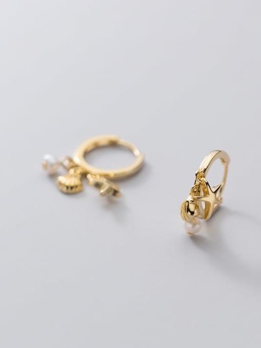 Rosh 925 Sterling Silver Star Cute Huggie Earring 3