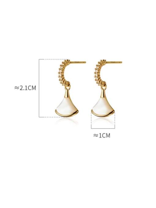 Rosh 925 Sterling Silver Shell Irregular Minimalist Drop Earring 3