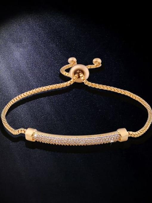CC Alloy Cubic Zirconia Geometric Vintage Adjustable Bracelet