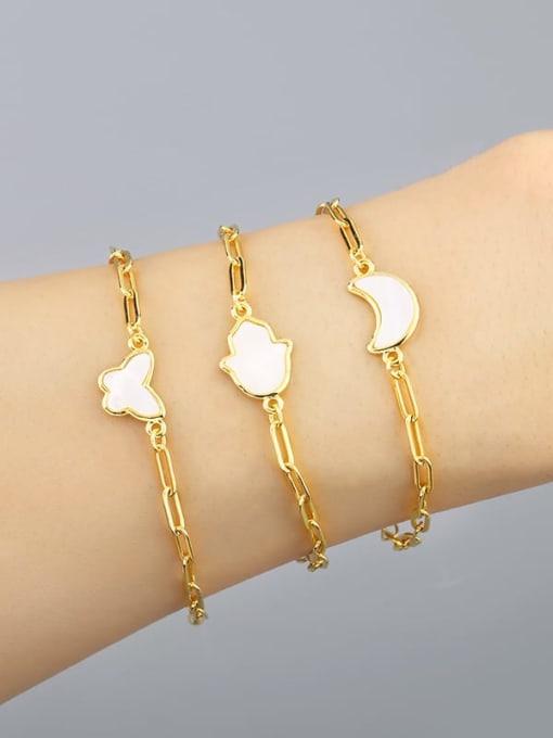 CC Brass Shell Butterfly Minimalist Adjustable Bracelet 3