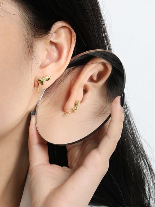 DAKA 925 Sterling Silver Irregular Minimalist Stud Earring 3