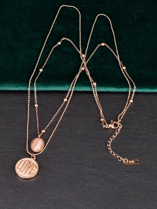 A TEEM Titanium Steel Round Minimalist Multi Strand Necklace 3