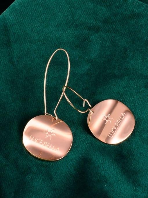A TEEM Titanium Letter Minimalist Hook Earring 1