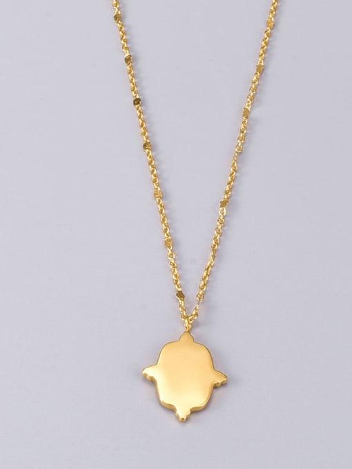 A TEEM Titanium Steel Geometric Vintage Pendant Necklace 4