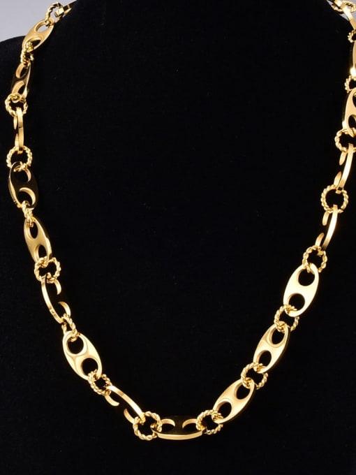 A TEEM Titanium Steel Hollow Geometric Vintage Necklace 2