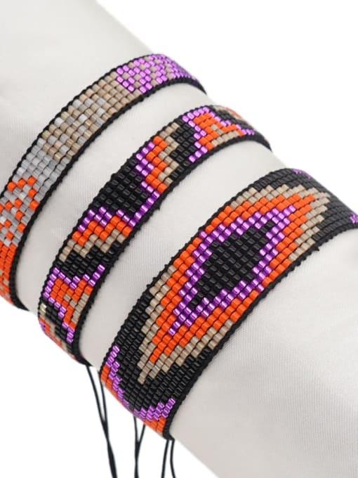 MI S200485 Multi Color Miyuki DB  Bead Geometric Artisan Handmade Weave Bracelet