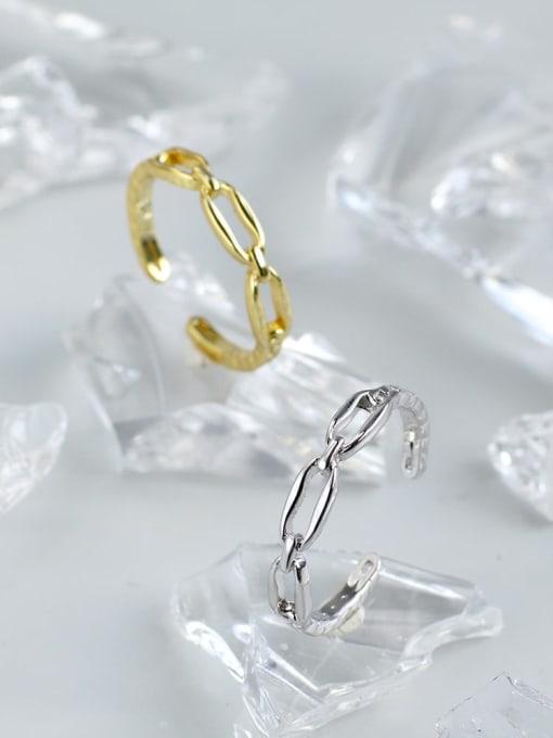 CHARME Brass Cubic Zirconia Geometric Vintage Band Ring 1