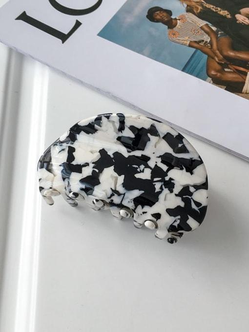 Cow grain 9cm Alloy Cellulose Acetate Bohemia Geometric  Jaw Hair Claw
