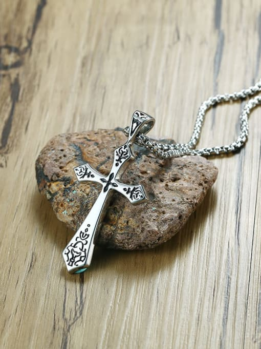 CONG Titanium Steel Cross Minimalist Regligious Necklace 3