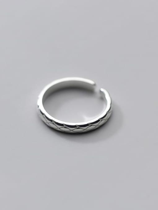 Rosh 925 Sterling Silver Rhinestone Round Minimalist Band Ring 3