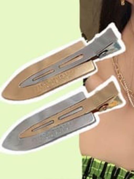 Mona same gold Alloy Enamel Minimalist Irregular  Multi Color Hair Barrette