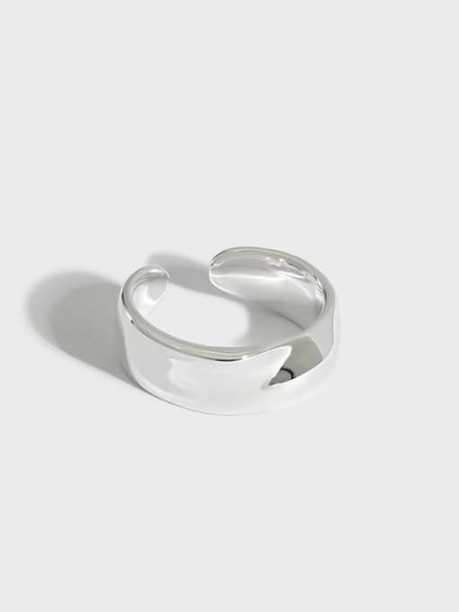 DAKA 925 Sterling Silver Irregular Minimalist Single Earring