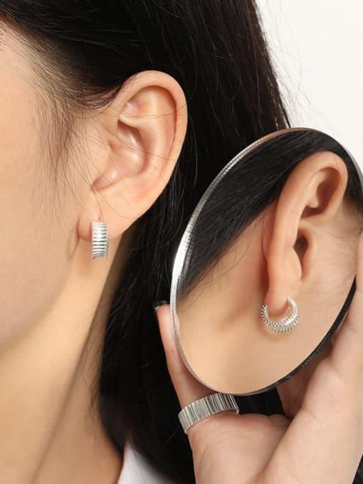 DAKA 925 Sterling Silver Geometric Vintage Stud Earring 3