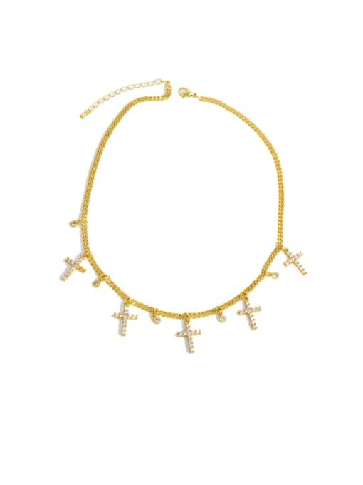 CC Brass Cubic Zirconia Tassel Vintage Necklace 0