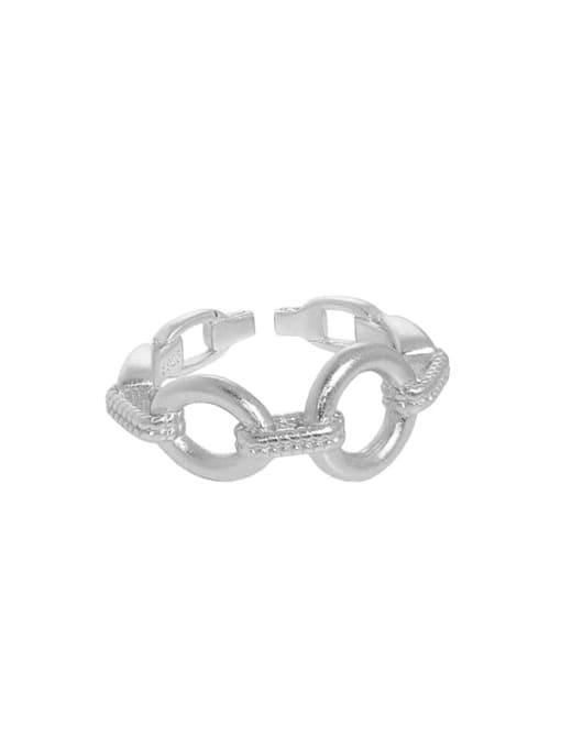 DAKA 925 Sterling Silver Hollow Geometric Vintage Band Ring 4