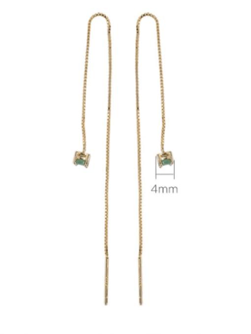 DEER 925 Sterling Silver Opal Geometric Minimalist Drop Earring 2