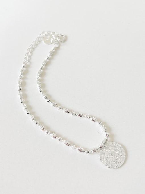 Flash round brand Bracelet a287 925 Sterling Silver Heart Minimalist Link Bracelet