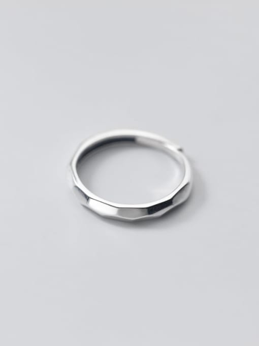 Rosh 925 Sterling Silver Round Minimalist Band Ring 2