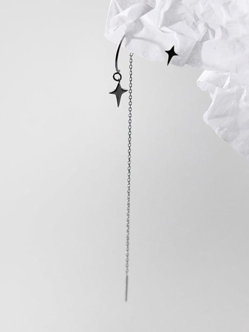 Rosh 925 Sterling Silver Tassel Minimalist Threader Earring