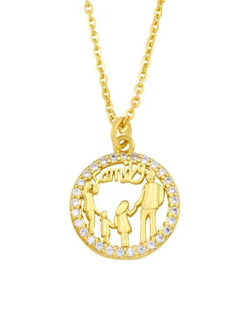 CC Brass Cubic Zirconia Tree Vintage Necklace 1