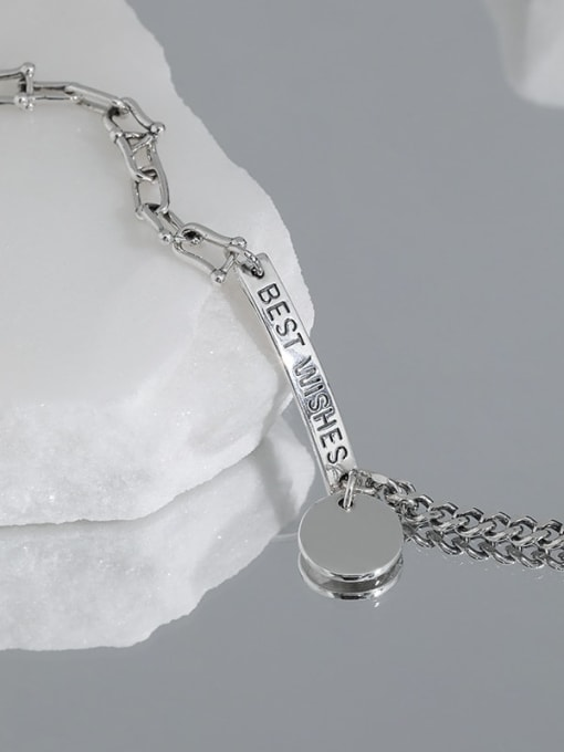DAKA 925 Sterling Silver Irregular Vintage Link Bracelet 3