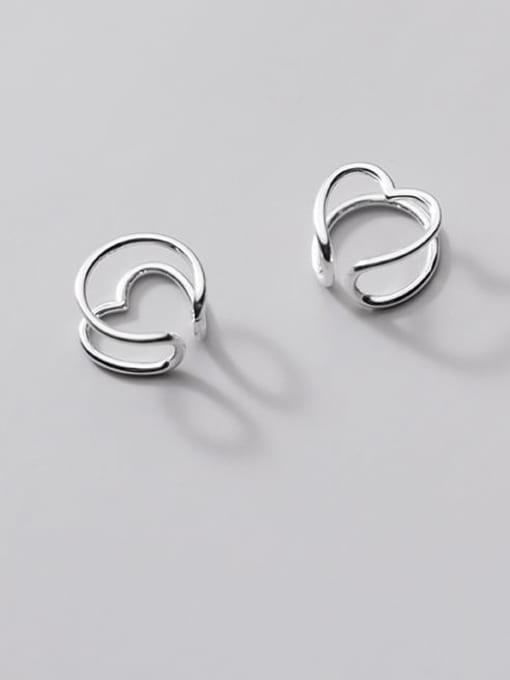 Rosh 925 Sterling Silver Heart Minimalist Clip Earring 2