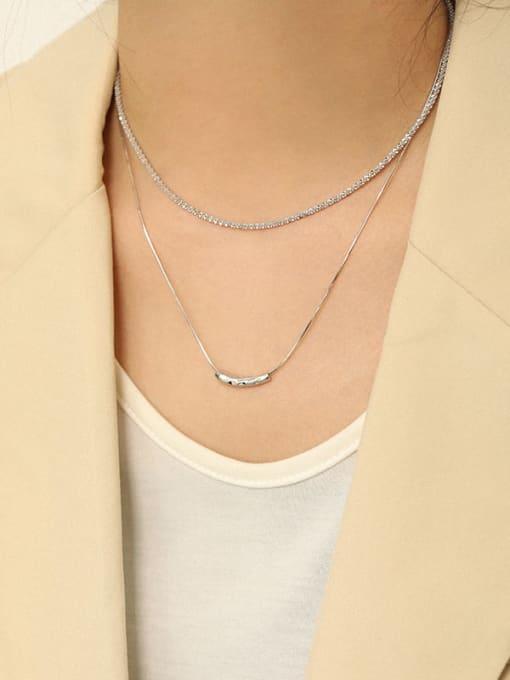 Dak Phoenix 925 Sterling Silver Irregular Minimalist Necklace 3