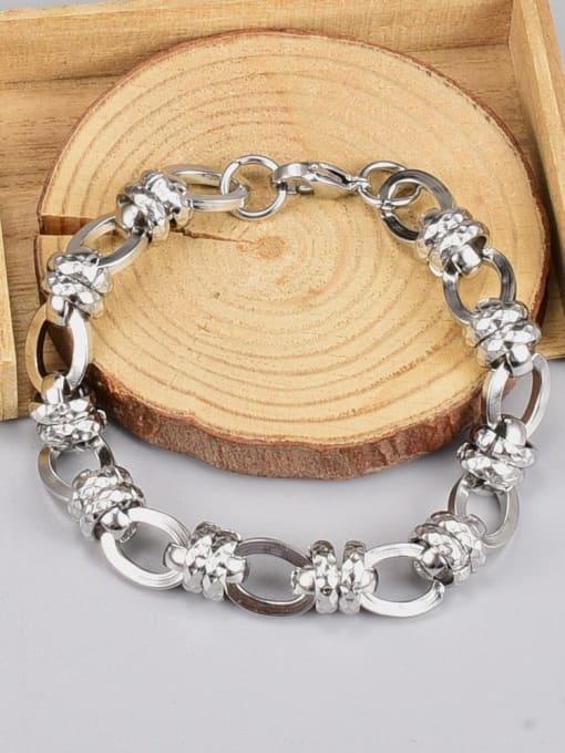 A TEEM Titanium Steel Irregular Vintage Link Bracelet 4