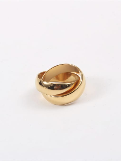 GROSE Titanium Steel Geometric Minimalist Stackable Ring 1