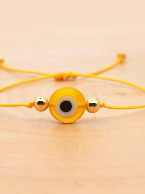 QT B200188F Stainless steel Bead Evil Eye Bohemia Adjustable Bracelet
